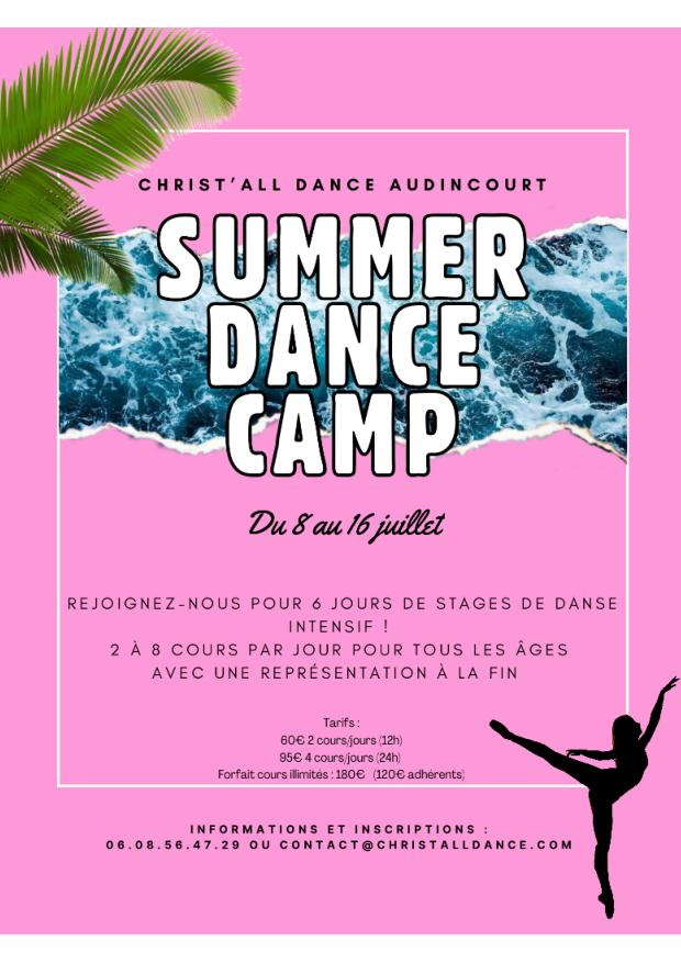 Affiche du Summer Dance Camp chez Christ all Dance àAudincourt-